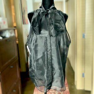 Babaton   NWT Julius Sheer Tie Blouse - Black, L